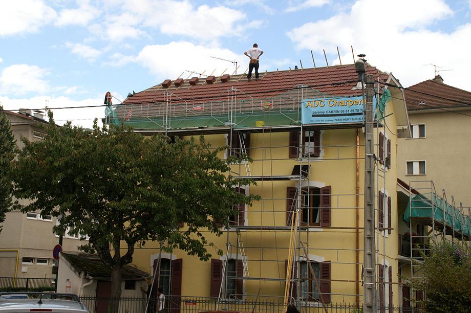Chantier privé, rénovation de la toiture