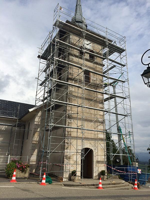 Rénovation de la toiture de l'église de Vovray en Bornes