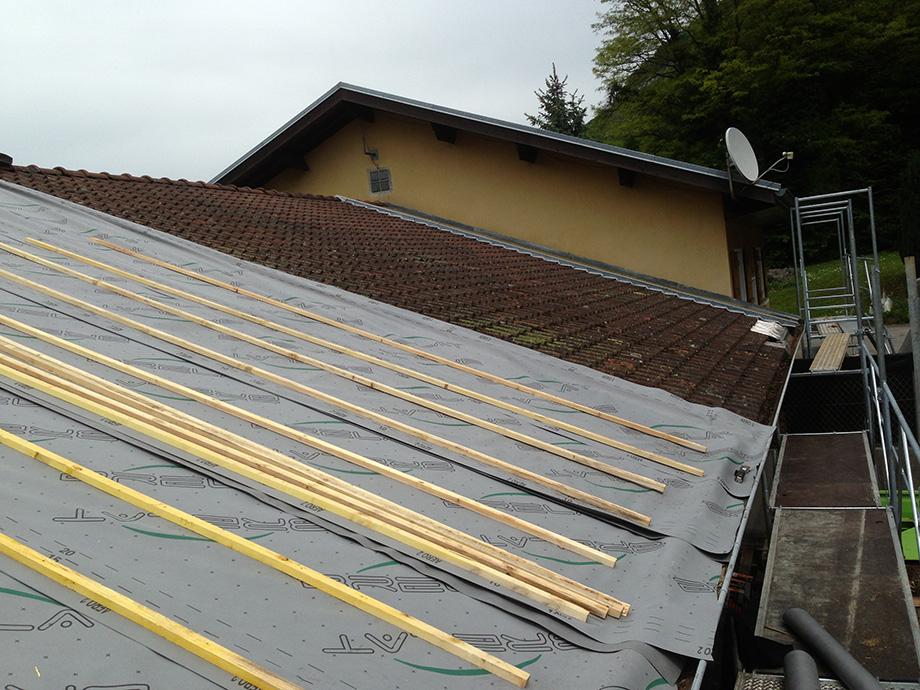 Rénovation de la toiture de la mairie d'Etrembière