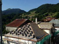 Rénovation de la toiture de l'école de Bellevaux.