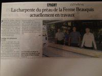Renforcement de la structure du préau de la mairie d'Epagny