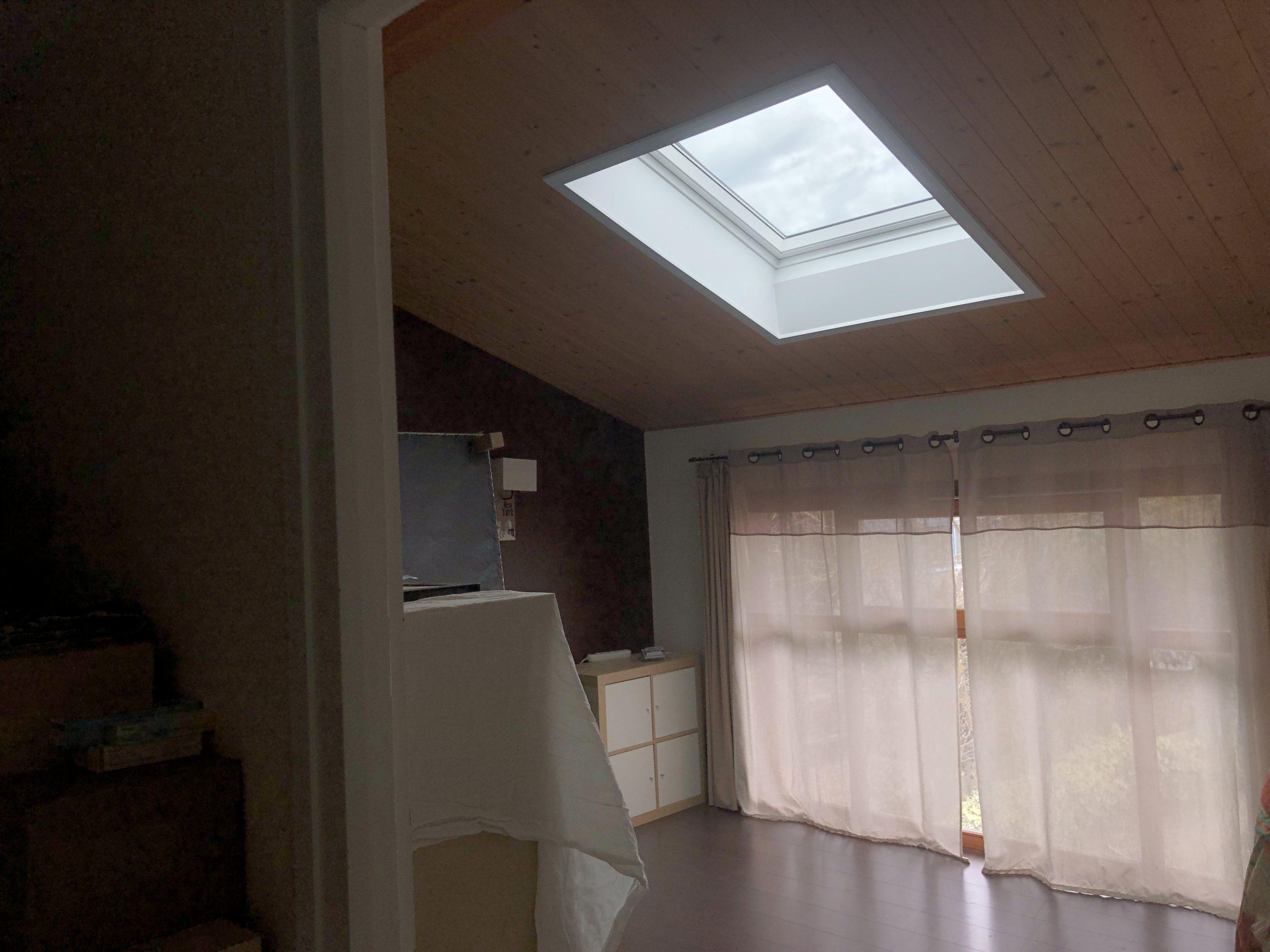 Pose de deux fenêtres de toit VELUX à Douvaine en Haute-Savoie