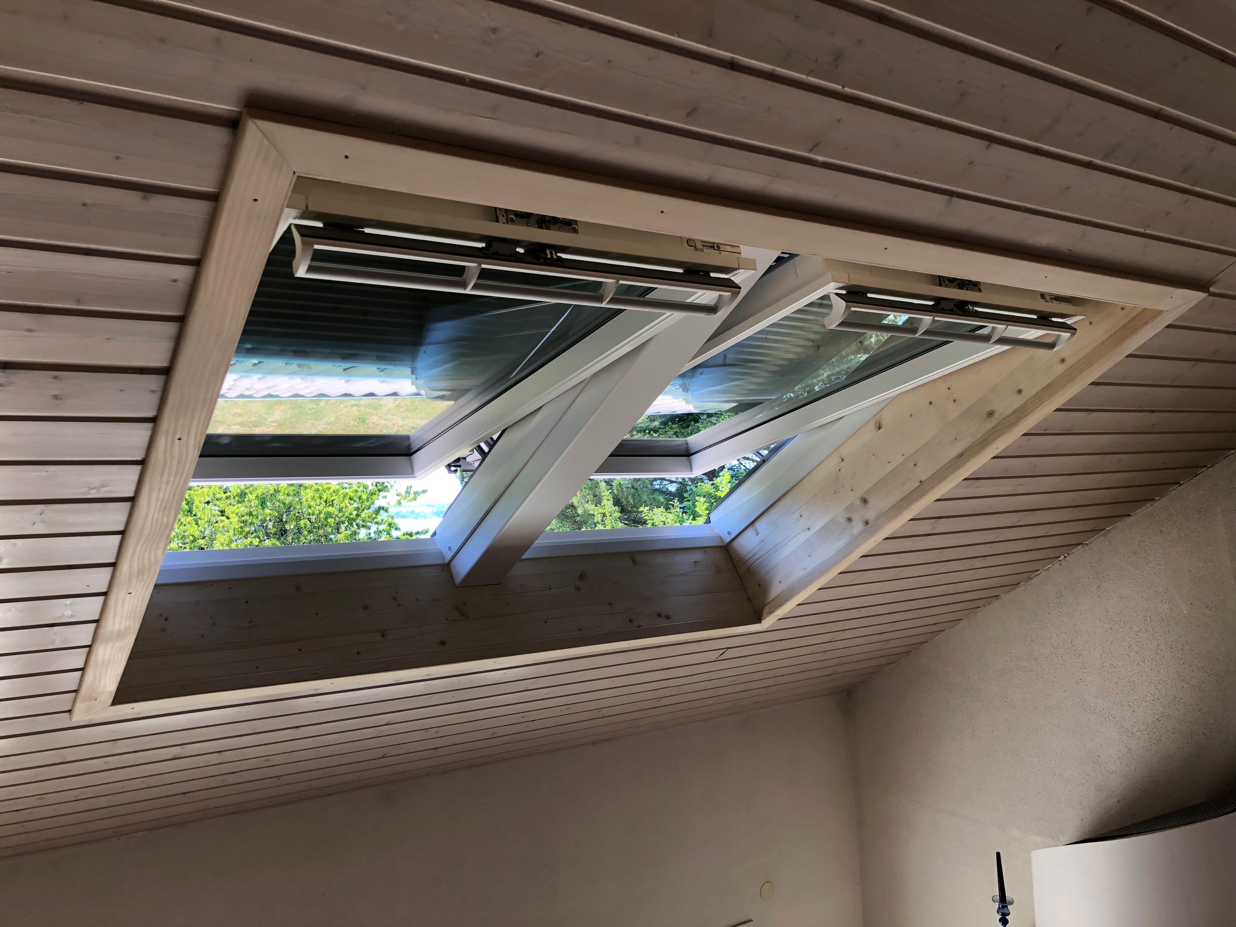 Remplacement d'une verrière par 2 fenêtres de toit VELUX à Anthy-sur-Leman