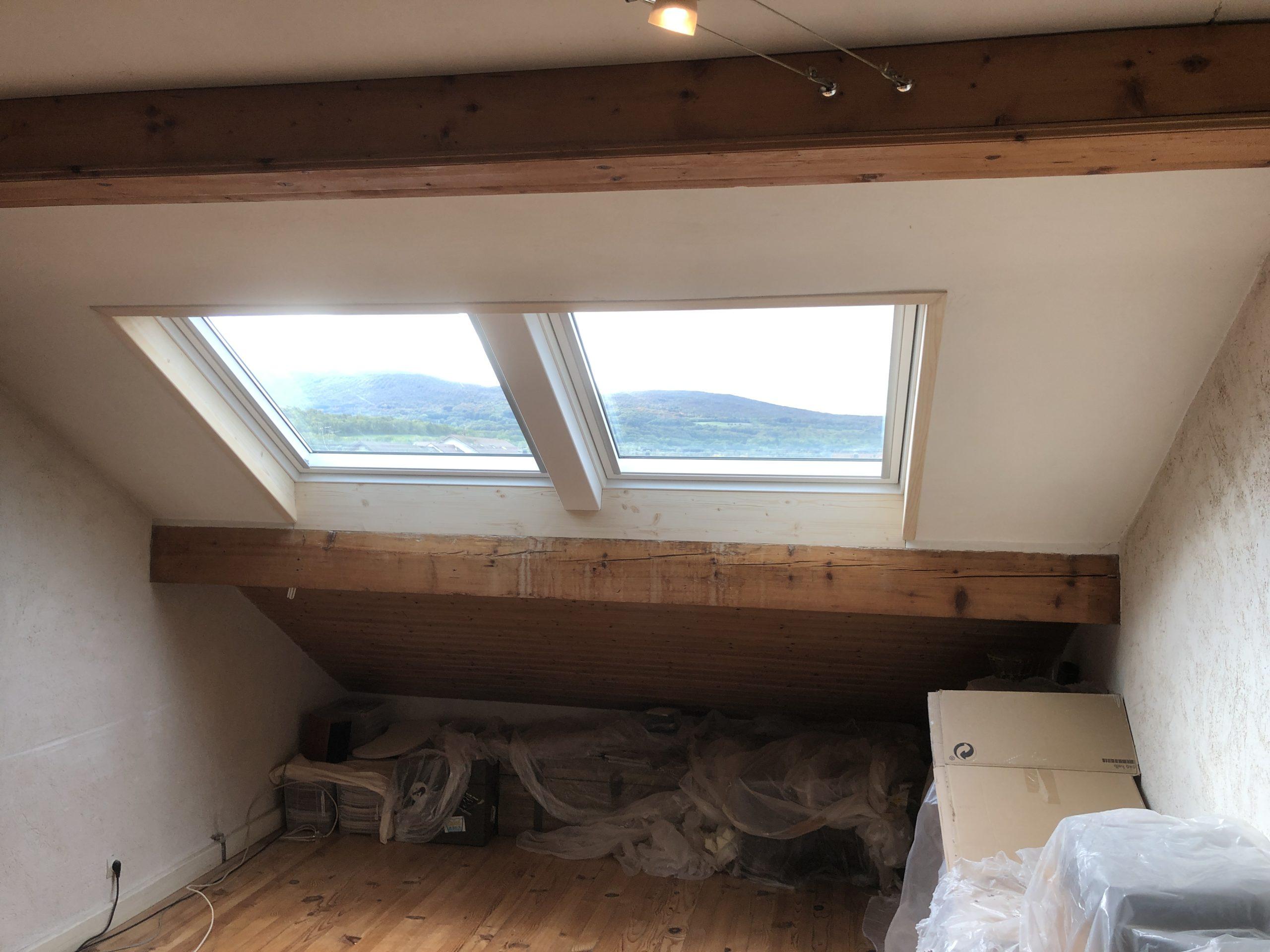Création d'une double fenêtre de toit VELUX à Valleiry